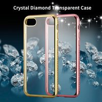 apple rugs - For iPhone Plus Soft Silicone Plating Cover Luxury D Diamond Rug Bumpers Transparent Clear TPU Case