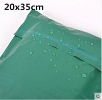 Cheap 100pcs 20*35cm green Poly Mailer Plastic Shipping Mailing Bag Envelopes Polybags Strong Plastic Seal Postage Bags Free Shipping