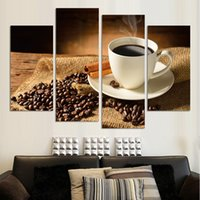 animal coffee beans - NO FRAME CANVAS ONLY pieces wall pictures coffee and beans on the desk home decoration art for dinning room