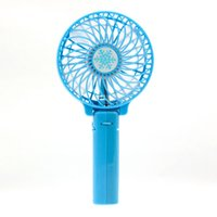 Wholesale 2016 Foldable Hand Fans Battery Operated Rechargeable Handheld Mini Fan Fashion Electric Personal Fans Hand Bar Fan PC UP