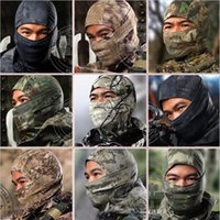 Wholesale 12 Color Tight Camouflage Balaclava Tactical Airsoft Hunting Outdoor Paintball Motorcycle Ski Cycling Protection Full Face Mask