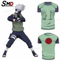 Cheap Wholesale-2016 Classic Anime Naruto Characters Kakashi Gaara 3D Naruto Digimon Adventure Casual Cotton Tshirt homme Naruto cosplay S-XXXXL