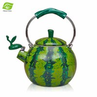 best whistling kettle - Best Enamel Watermelon Kettle L Porcelain Enamel Teapot Kettle Whistle Kettle Enamelware Drop Shipping