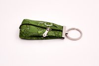 Wholesale muti color chinese style ethnic extoic classical key wallets mini purses with zipper handmade bag distinctive embroidered holders