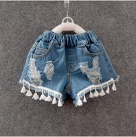 baby collectibles - Collectibles summer new washing denim shorts hot baby girls fashion cute years old pendant hole denim shorts casual clothes out