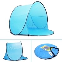 Wholesale 5 pieces New Automatic Pop Up Person Beach Tents Outdoor Camping Tourism Folding Awnings Fishing Tent Sun Shelter