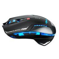 Wholesale E lue EMS601WHAA computer game Mazer II DPI Blue LED GHz Optical Wireless Gaming Mouse White