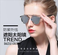 Wholesale Ms hot glasses with new brand sunglasses tide reflective sunglasses Fashion hd uv protection Quality assurance