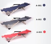 Wholesale Steel deck chair folding lunch nap office cots chair beach chair folding