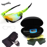 Wholesale Outdoor Sports Glasses Fashion Cycling Sunglasses Tactical Glasses Three Lens Changeable Sunglass Fashion Cycling Sports Glasses