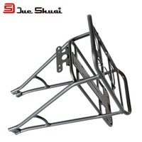 """Cheap Wholesale-26"""" 700C Adjustable Rear Rack Aluminum Bike luggage Bicycle Rack For Battery Carrier Mount Electric Bikes OEM Seatpost Accessory"""