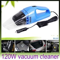 Wholesale NEW Portable Car Vacuum Cleaner Wet and Dry dual use Super Suction W Car Vacuum Cleaner DHL free