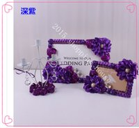 Wholesale The wedding reception table decoration creative welcome area theme wedding decoration acrylic frame