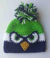 baby seahawks - Seahawks OWL Beanie Earflaps Hat Crochet Knitted Hat Baby Boys Girls Kids Toddler Winter Cartoon Animal Cap Newborn Infant Headwear Cotton