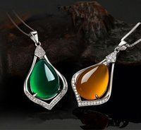 best jade jewelry - Hot Sale Korean version Jewelry Silver with jade pendant for girls best gift high quality