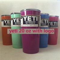 Wholesale 304 Stainless Steel oz Yeti Cool Cupser YETI Rambler Tumbler Cup Purple Pink Light Blue Orange Light Green Stainless Stee Blue