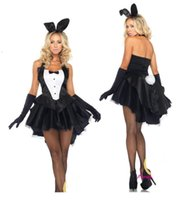 Wholesale new Christmas Club Role playing clothing sexy bunny Cosplay Halloween bunny costumes female dovetail sexy bunny costume