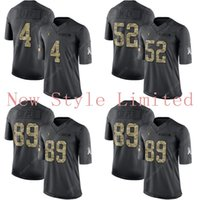 admiral black - Limited Raiders Derek Carr Khalil Mack Amari Cooper Black Admiral Salute To Service Stitched Embroidery Authentic Football Jerseys