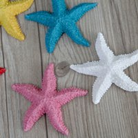 aquarium decorating - Mediterranean Style Mini Natural Starfish Decorating Resin DIY Sea Star Crafts Home Aquarium Beach Wedding Decorations Props