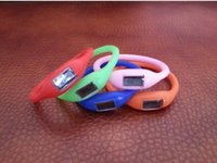 Wholesale Kid Gifts Candy Color Anion pedometers Silicone Fitness Tracker Wristband Rubber Bracelet pedometer Portable For Outdoor Sport Xmas