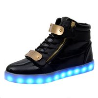 aircraft indicator - Men women size USB LED charging indicator seven colors of fashion shoes casual shoes led light aircraft above LUMINEUSE