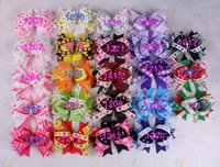 Wholesale pc inch baby Girl kids dot Grosgrain Ribbon Hair Bows Clip Hairpins