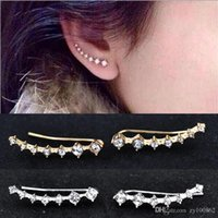 Wholesale Big DipperEar Cuff Wrap Crystal Earrings Newest High Quality Summer Style Ear Cuff Piercing Clip Earrings Jewelry For Women