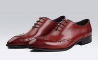basic knotted - 2016 Italian luxury designer formal mens dress shoes genuine leather black basic flats for men wedding office size
