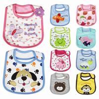 Wholesale Baby Bibs Cotton Waterproof Aprons Kids Saliva Cartoon Towel Children Burp Apron Infant Towel Bibs Burp Cloths