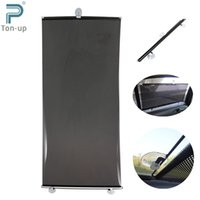 auto curtains - 23 x inches Solar Film Protections Car Retractable Sunshade Auto Window Suction Cup Curtain Windshield Shield Visor Black