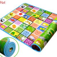 Wholesale 2 m Kids Crawling Play Mat Children Double Side Pad Children Develope Gym Carpet Floor Mat Fruit Millionaire Game Picnic Carpet SV006830