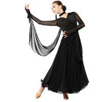 Wholesale Women long sleeve Modern Waltz Tango Ballroom Dance Dress Smooth Ballroom Dress Standard Ballroom Dress