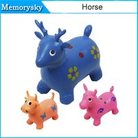 Wholesale inflatable Toy jumping horse jumping deer jumping cow thickening Increased PVC toys hotsell