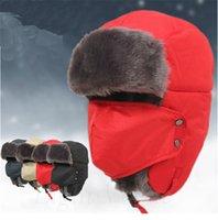 aviator hat orange - Hot Unisex Men Winter Trapper Aviator Trooper Earflap Warm Ski Hat With Mask