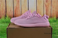 Cheap With Original Box Adidas Yeezy Running Shoes 350 Boots Men Women Yeezys Boost Cheap 2016 New Hot Sale Pink Wholesale Free Drop Shipping