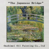 artist bridge - Top Artist Hand painted High Quality Impression The Japanese Bridge Oil Painting On Canvas Reproduction Bridge Canvas Painting