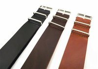 Wholesale High quality MM MM MM MM MM PU leather nato straps Imitation leather Watch band watch strap color available