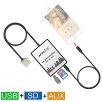 aux adapter honda accord - APPS2Car Car Integrated USB SD AUX Digital Music Changer Adapter for Honda Accord Civic CRV Element Odyssey Pilot Acura CSX MDX