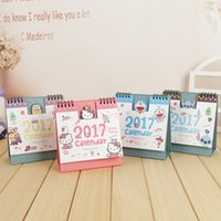 Wholesale Year Cute Cartoon Characters D Desktop Paper Calendar dual Daily Scheduler Table Planner Yearly Agenda Organizer
