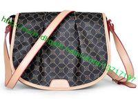 Top Grado Brown lona recubierta bolso de cuero real Menilmontant M40473 M40474 Diseñador de moda Messenger bolsa de hombro Flap