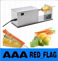 Wholesale Hot Sale Electric Potato Tornado Slicer Automatic Cutter Machine Twister Spiral Zucchini Cooking Tools LLFA725