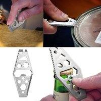 Wholesale EDC Multifunction Opener Wrench Key Chain Outdoor Survival Camping Hiking Cilmbing Pocket Tool Hot Sale