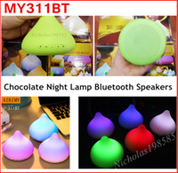 audio chocolate - New Design Chocolate Wireless Bluetooth Speakers MY311BT LED Night Light Lamp Flash Support Function TF Card USB Disk D Stereo FM Radio
