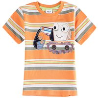 apricot types - The short sleeved Orange green apricot T shirt for child summer wear handsome little boy five types Cool New Comfortable Fashion x s m