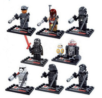 Wholesale New Arrival style Star Wars Yoda Sith Trooper Admiral Ackbar Building Blocks Minifigure Legoland Model DIY Bricks Toys Figures