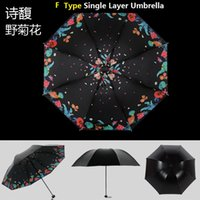 Wholesale Women Fold Mini Umbrella Beautiful Fashion UV Black Coating Umbrella Shade Umbrella Potable Umbrella