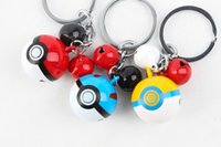 bell car accessories - Hot Sale Style pikachu Pokeball Tinkle Bell Metal Keychain Keyring Fashion Accessories cm Long