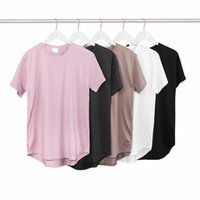 best fashion online shops - Best Mens Solid Color Casual T Shirts For Men Short Sleeve Round Bottom Kanye West Style Online Shopping
