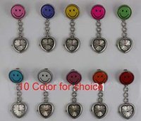 Wholesale 2014 Cute Peach Heart Smile Face Nurse Watches Cheap Watch Candy Color Gift Pocket Watch