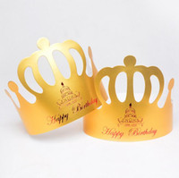 bakery hat - Custom Gold Crown birthday hat birthday hat bakery hat Children Birthday Party Hats Supplies Party Decoration